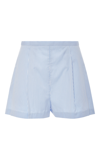 Medium mds stripes light blue pleated short