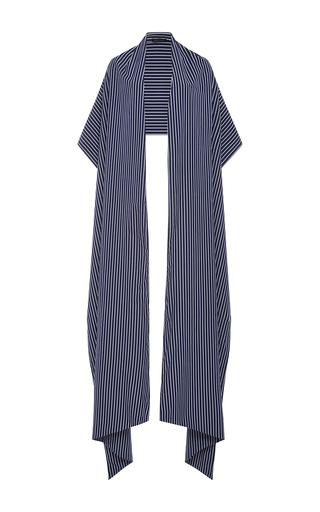 Medium mds stripes blue lauren stripe shawl