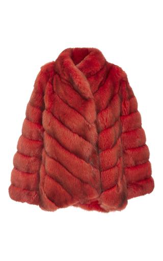 Medium helen yarmak red red reversible barguzine sable coat