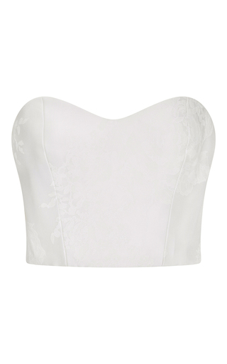 Medium monique lhuillier white lea top