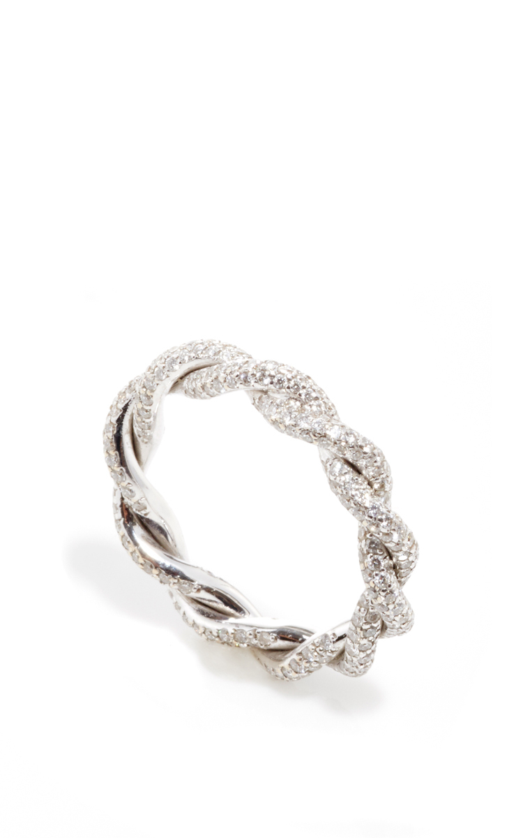 6c47afa44d560 Gioia18K White Gold Intertwined Love Rings with Diamonds. CLOSE. Loading
