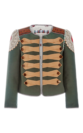 Medium alix of bohemia green the bavara jacket