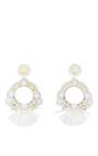 Raffia Fan Hoop Earrings by RANJANA KHAN Now Available on Moda Operandi