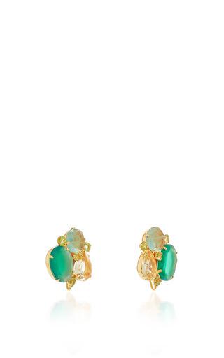 Green Onyx, Fluorite And Peridot Earrings by BOUNKIT Now Available on Moda Operandi