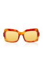 N°01 Caramel Acetate Sunglasses by DAX GABLER Now Available on Moda Operandi