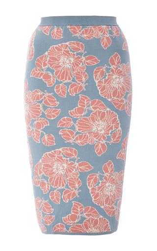 Medium tak ori light blue light blue printed a line skirt