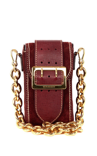 Medium burberry burgundy oblong belt bag