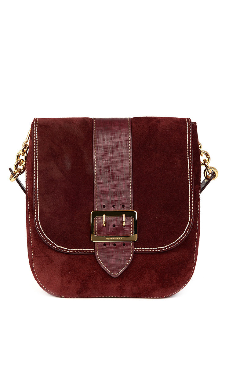 Suede Satchel Bag by Burberry | Moda Operandi