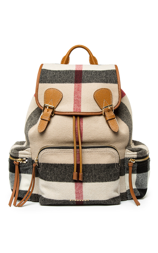 Medium burberry nude prorsum check rucksack