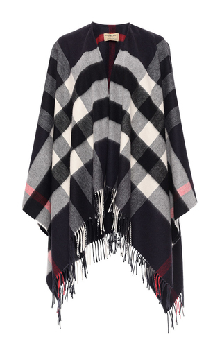 Medium burberry plaid collette wool cashmere cape