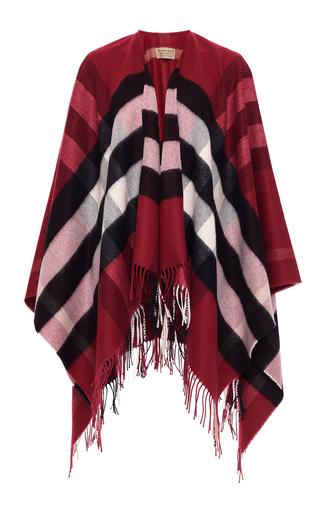 Medium burberry plaid collette wool cashmere cape  2