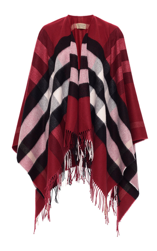 Medium burberry plaid collette wool cashmere cape  2