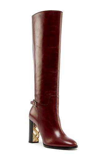 Medium burberry brown chestnut check detail marston boot