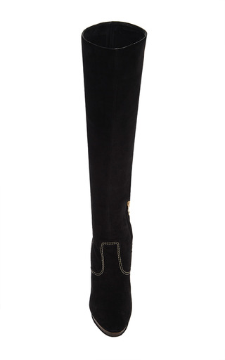 Relaxed Knee High Platform Boots by BURBERRY Now Available on Moda Operandi