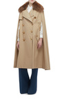 Trench Cape With Raccoon Collar by BURBERRY Now Available on Moda Operandi
