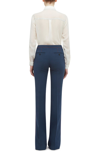 Silk And Wool Luggage Stitch Trouser by BURBERRY Now Available on Moda Operandi