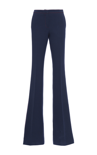 Medium burberry blue silk and wool luggage stitch trouser