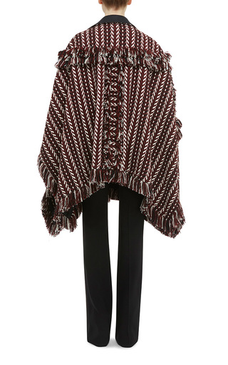 Knit Jacquard Blanket Cape by BURBERRY Now Available on Moda Operandi