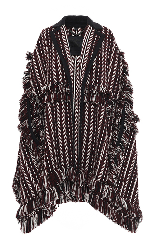 Medium burberry multi knit jacquard blanket cape