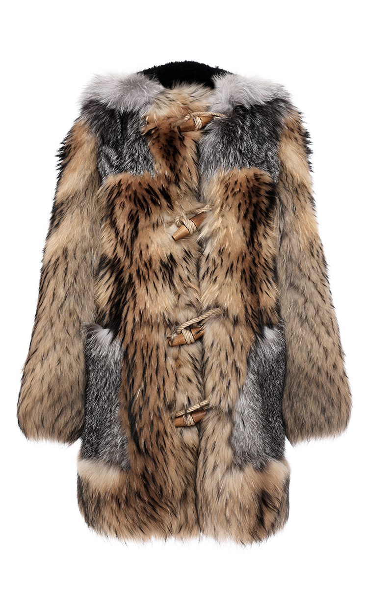 586ed72e81fe2 BurberryOversized Mixed Fur Duffle Coat. CLOSE. Loading
