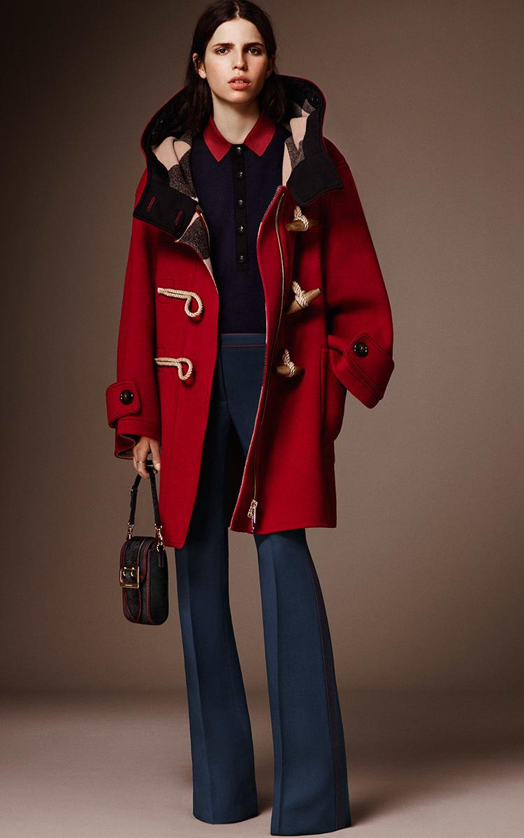 Oversized Technical Wool Duffle Coat by Burberry | Moda Operandi