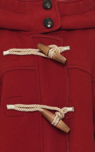 Oversized Technical Wool Duffle Coat