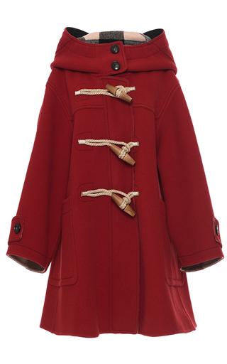 Medium burberry red oversized technical wool duffle coat