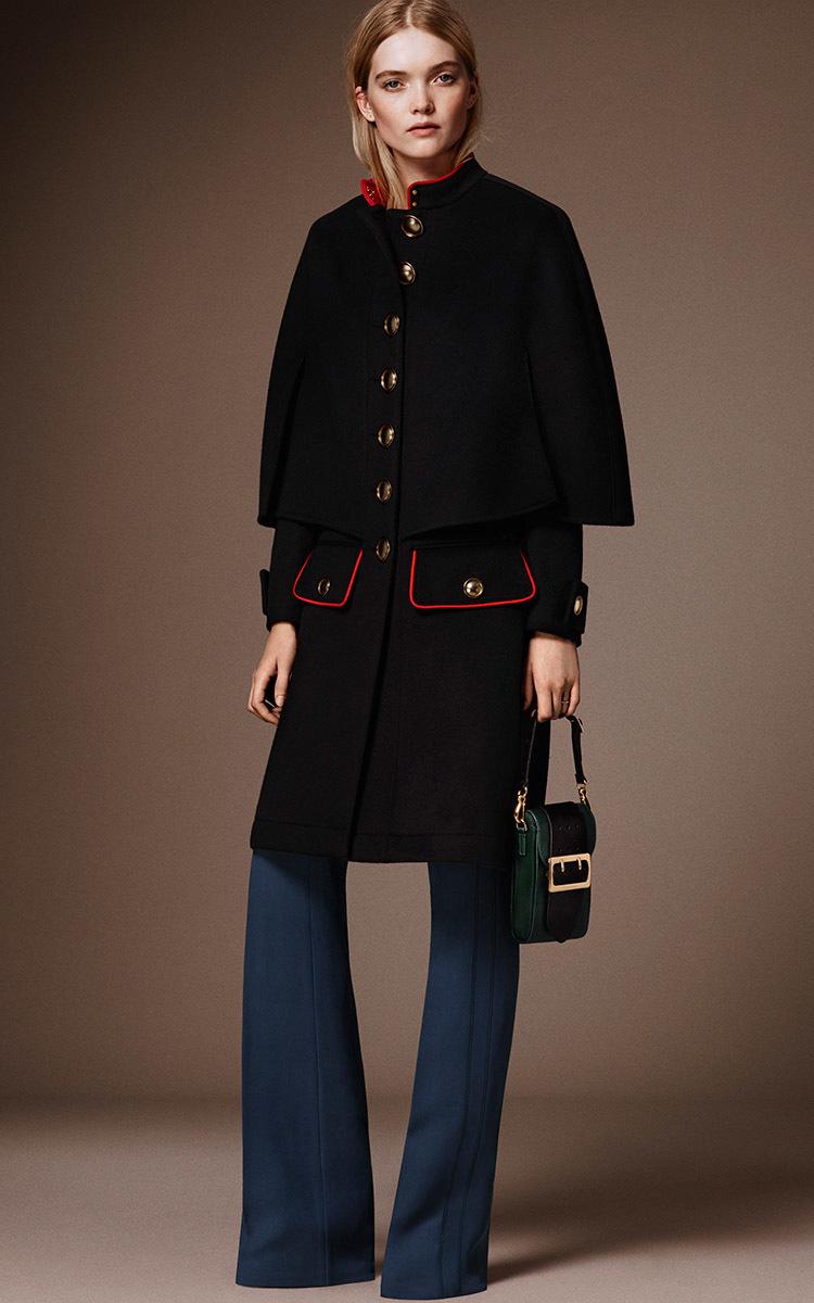cashmere military cape coat by burberry moda operandi