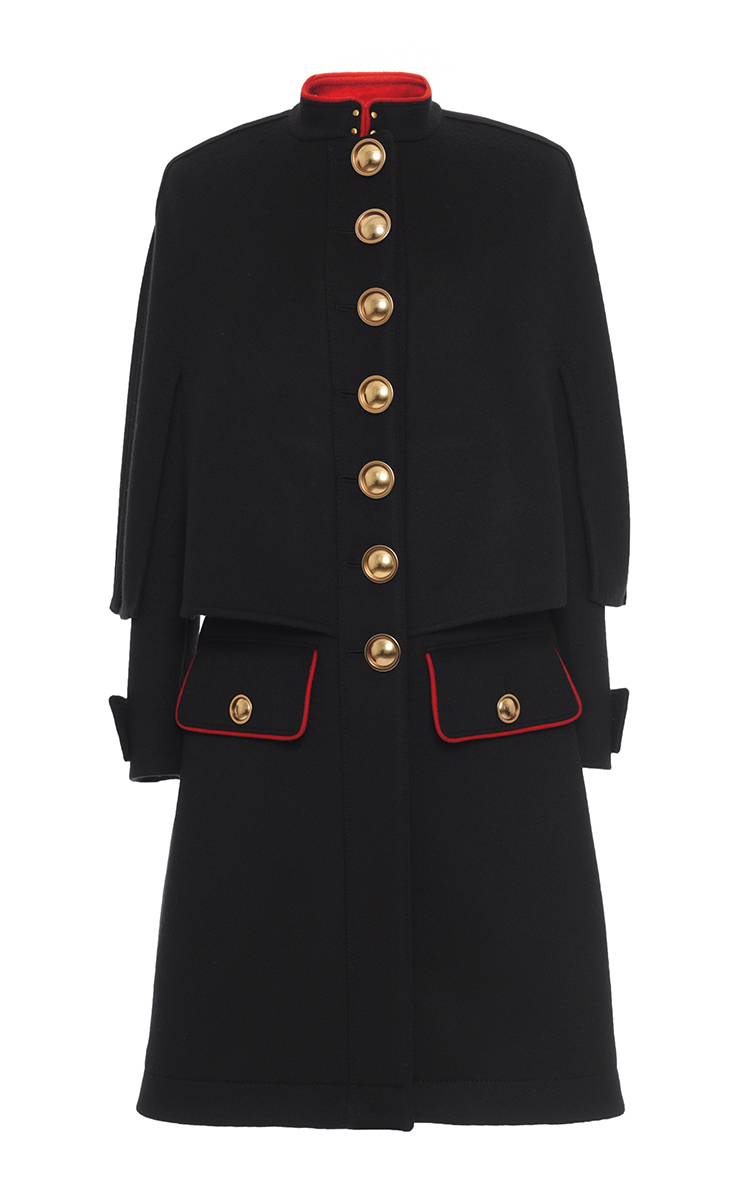 Cashmere Military Cape Coat by Burberry | Moda Operandi