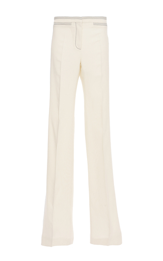 Medium burberry white tailored twill bootcut trouser