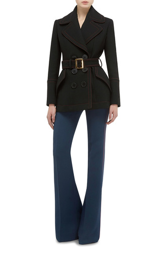 Belted Luggage Stitch Coat by BURBERRY Now Available on Moda Operandi