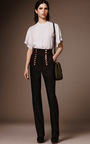 High Waist Twill Military Trouser by BURBERRY Now Available on Moda Operandi
