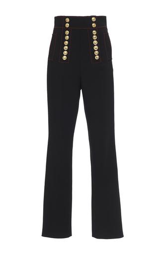 Medium burberry black high waist twill military trouser