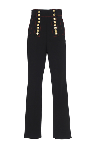 Medium burberry black high waist twill military trouser