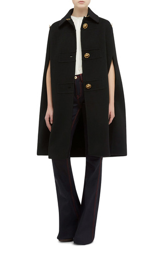 Cashmere Military Cape by BURBERRY Now Available on Moda Operandi