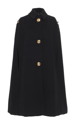 Medium burberry black cashmere military cape