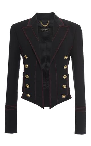 Medium burberry black luggage stitch military jacket