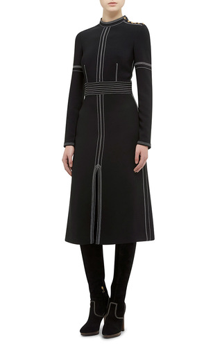 Luggage Stitch Regimental Button Sheath Dress by BURBERRY Now Available on Moda Operandi