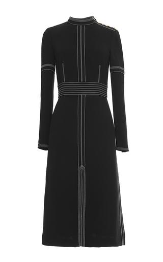 Medium burberry black luggage stitch regimental button sheath dress