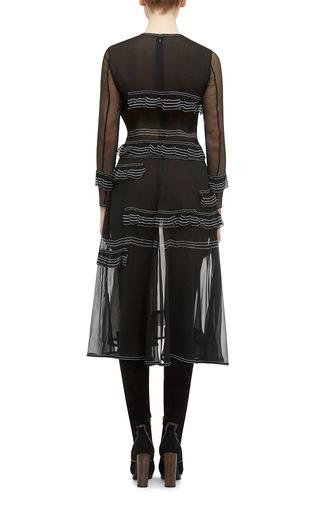 Luggage Stitched Silk Ruffle Dress by BURBERRY Now Available on Moda Operandi