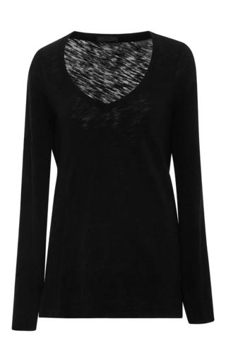 Medium atm black long sleeved slub tee