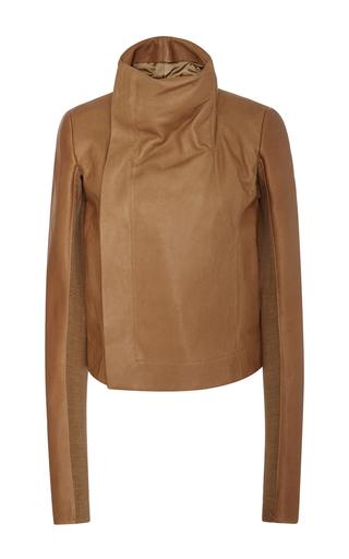 Medium rick owens brown high neck biker jacket