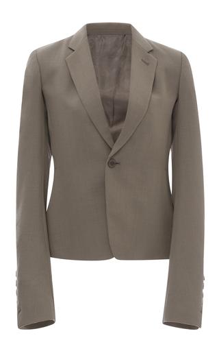 Medium rick owens dark grey wool tuxedo blazer