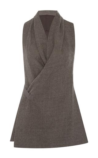 Medium rick owens dark grey v neck wrap vest