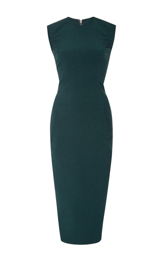 Medium rick owens green dovima midi pencil dress