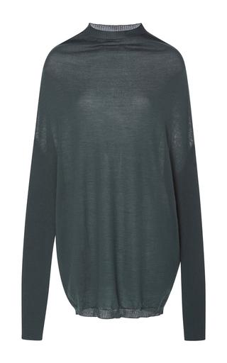 Medium rick owens grey crater knit long sleeve tshirt