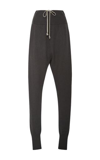 Medium rick owens dark grey cashmere drawstring pants