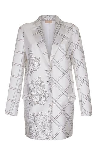 Medium ruban white mixed print jacket