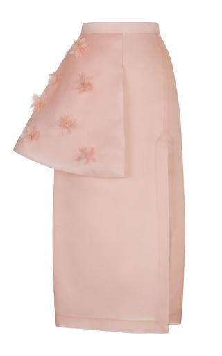 Medium ruban pink pink decorated organza basque skirt