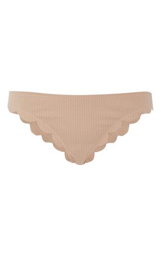 Medium marysia swim tan broadway scallop edged bikini bottoms